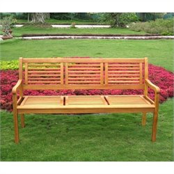 International Caravan Royal Tahiti Bar Harbor Outdoor Patio Bench