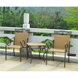 3 Piece Outdoor Patio Bistro Set