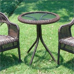 Glass Top Outdoor Patio Bistro Table