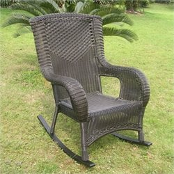 Resin Wicker/Aluminum Patio Rocker