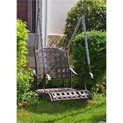 Iron Nailhead Hanging Porch Swing