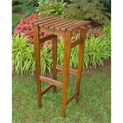 Acacia Backless Patio Bar Stool (Set of 2)