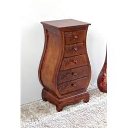 5 Drawer Bombay Accent Chest in Walnut