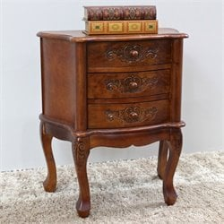 3 Drawer Accent End Table in Walnut