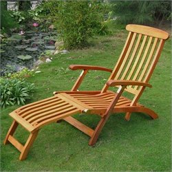 International Caravan Royal Tahiti Outdoor Patio Chaise Lounge Chair