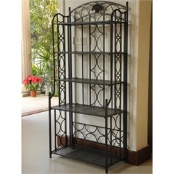 Iron 5-Tier Bakers Rack in Black