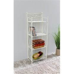 4 Tier Folding Bakers Rack in White