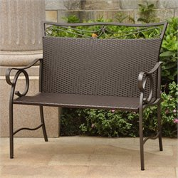 Patio Garden Bench in Chocolate