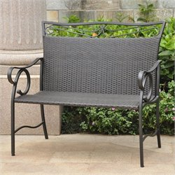 Patio Garden Bench in Antique Black