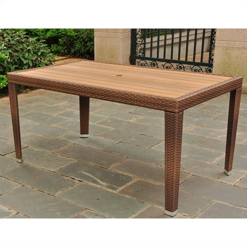 patio dining table in antique brown 4200 rt abn