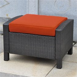 Patio Ottoman in Black