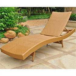 Patio Chaise Lounge in Honey Pecan