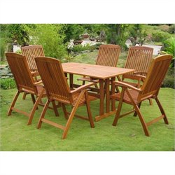 La Coruna 7 Piece Wicker Patio Dining Set