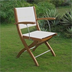 Set of 2 Patio Chair in Natural