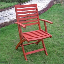 Set of 2 Patio Chair in Barn Red
