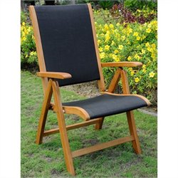 Multi-Positon Balau Patio Dining Chair