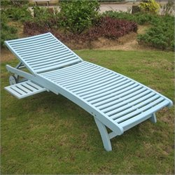 Patio Chaise Lounge in Sky Blue