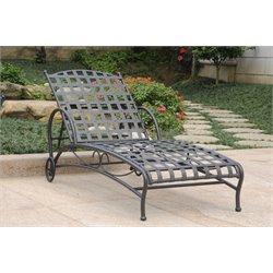 Iron Chaise Lounge in Antique Black