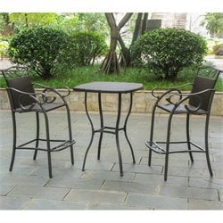 3 Piece Patio Bistro Set in Chocolate