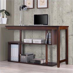 Accent Shelf with Desk in Espresso