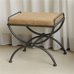 Vanity Stool in Antique Black