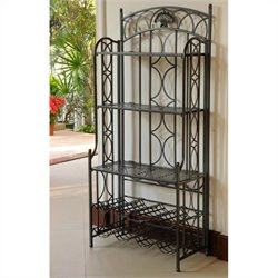 Bakers Rack in Antique Black