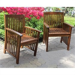 Acacia Deep-seated Patio Dining Chair (Set of 2)