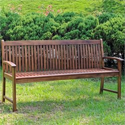 3 Seater Garden Bench in Stain