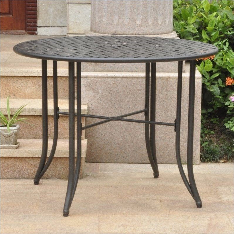 Patio Dining Table In Antique Black 3454 Tbl Ant Bk