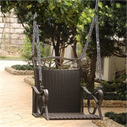 Hanging Patio Swing in Chocolate