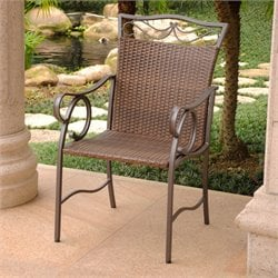 Patio 2 Dining Chairs in Antique Brown