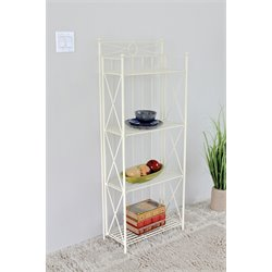 4 Tier Bakers Rack in White