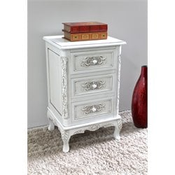 3 Drawer End Table in Antique White