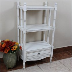 3 Tier Bookshelf in Antique White