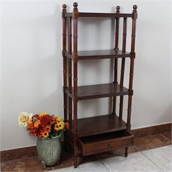 4 Tier Bookshelf in Walnut