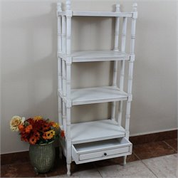 4 Tier Bookshelf in Antique White