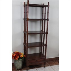 5 Tier Bookshelf in Walnut