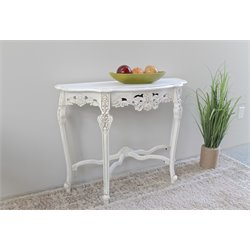 Half Moon Wall Table in Antique White