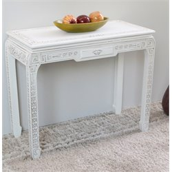 Console Wall Table in Antique White