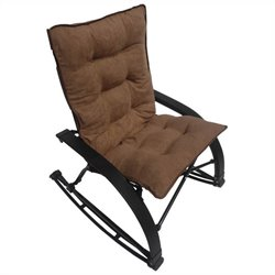 Folding Rocking Chair in Saddle Brown