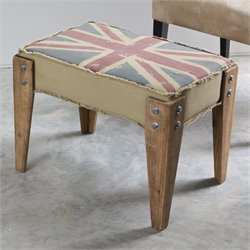 Upholstered Bench in Antique Vintage