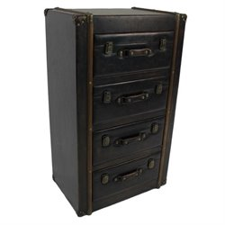 4 Drawer Indoor Chest in Antique Brown
