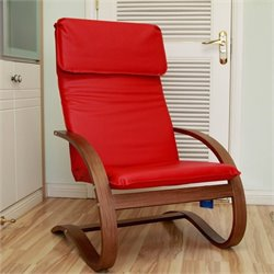 Contemporary Lounge Chair in Red