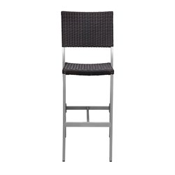 Source Outdoor Fiji Armless Patio Bar Stool in Espresso