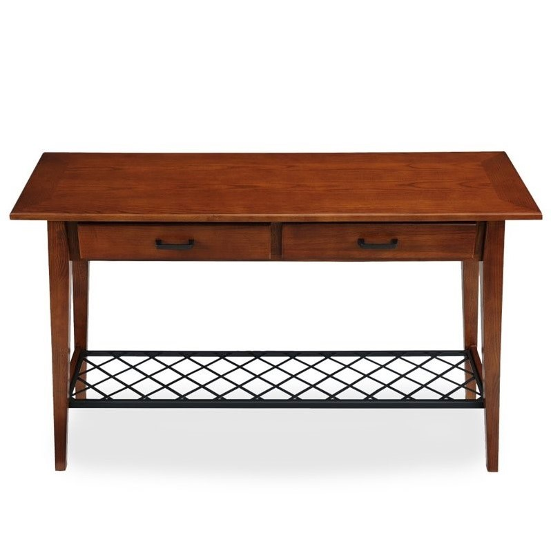 Leick Latisse Console Table In Westwood Oak 10233