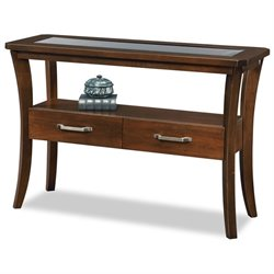 Leick Boa Console Table in Chocolate Cherry