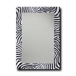 Leick Decorative Wall Mirror in Zebra