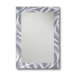 Leick Decorative Wall Mirror in Gray and White