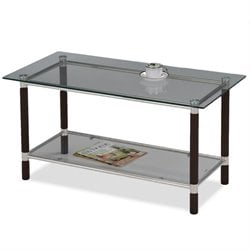 Leick Favorite Finds Glass Top Coffee Table in Coffee