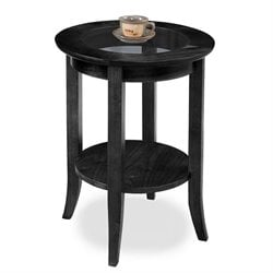Leick Favorite Finds Round End Table in Slate